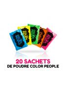 20 sachets de POUDRE HOLI COLOR PEOPLE