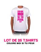 Lot de 25 t-shirts COLORE MOI SI TU PEUX !