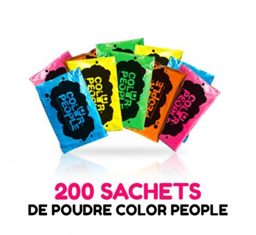 200 sachets de POUDRE HOLI COLOR PEOPLE