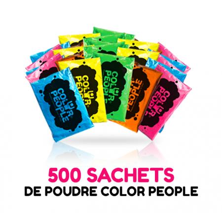 500 sachets de POUDRE HOLI COLOR PEOPLE