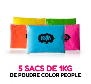 1 KG de poudre HOLI COLOR PEOPLE en sac