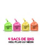 4 sacs de 2kg de Poudre Holi FLUO UV
