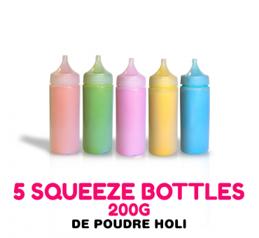 Pack 5 Squeeze Bottle HOLI 200g