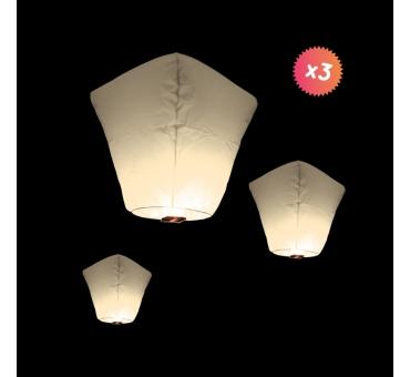Lanternes Thailandaises lot de 3