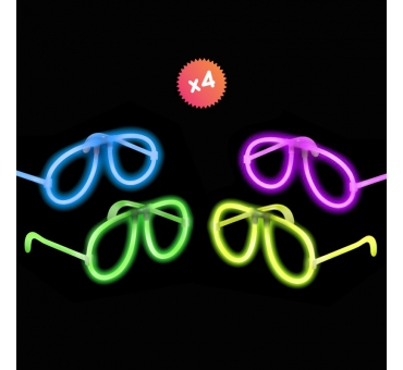 4 lunettes lumiescentes