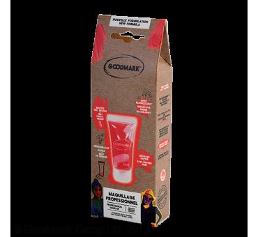 Maquillage à l'eau en tube, effet fluorescent, couleur rouge, 20 ml