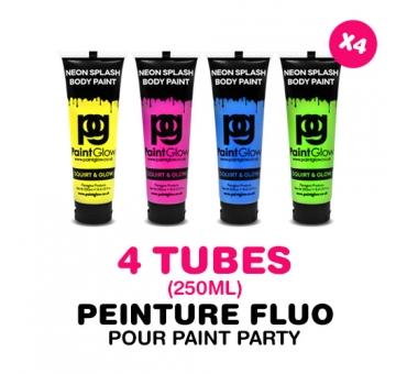 4 tubes de 250ml de PEINTURE pour PAINT PARTY