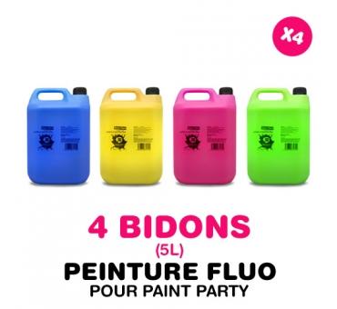 4 bidons de 5L de PEINTURE pour PAINT PARTY