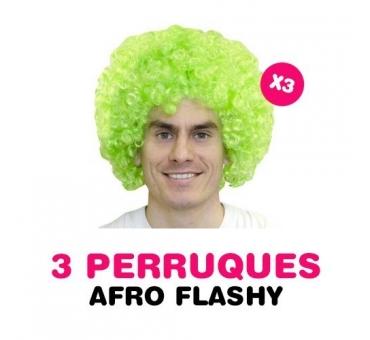 Lot de 3 perruques FLASHY