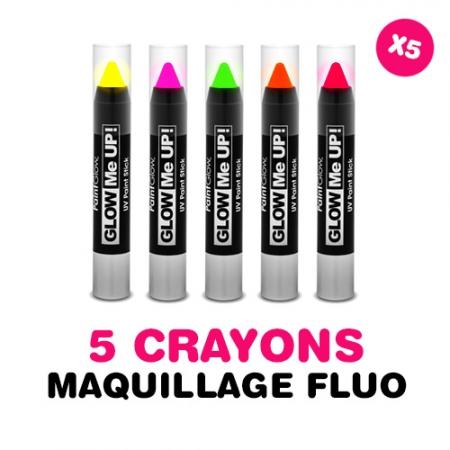 Lot de 5 crayons à maquillage FLUO