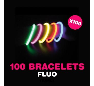 100 bracelets luminescsents
