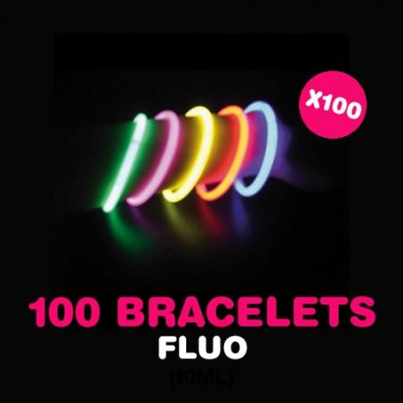 100 bracelets Fluo