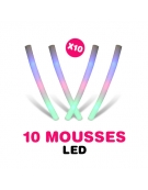 10 tubes mousse lumineux LED