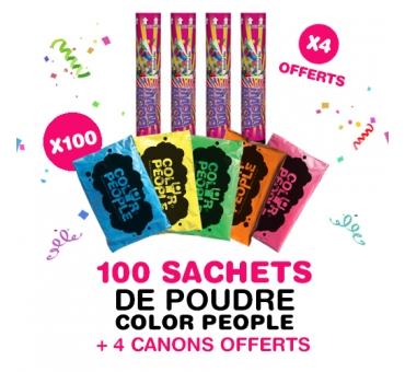Pack Carnaval Holi - 4 lanceurs de confettis offerts