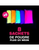 8 sachets de Poudre FLUO UV NEON