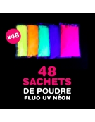 48 sachets de Poudre FLUO UV NEON